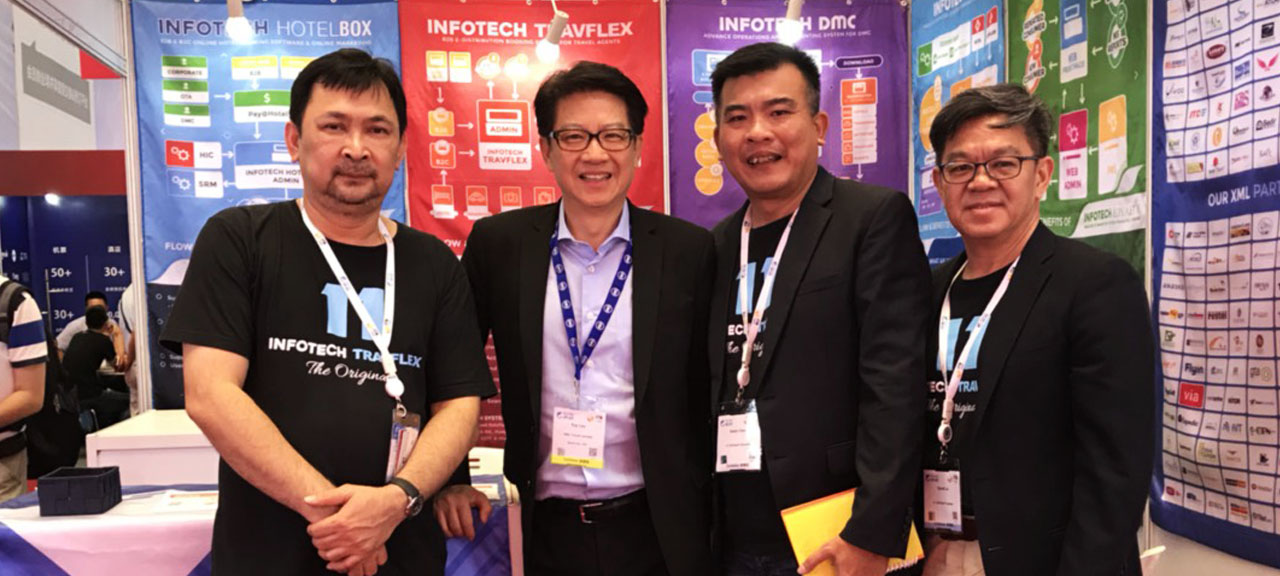 11-Infotech system exhibited the stand at ITB China 2018